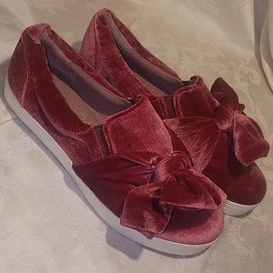 Libby Edelman Velour Slip-on Shoes Pink NWOT